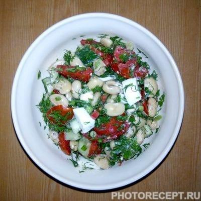 Салат из фасоли с овощами и яйцом - рецепт с фото
