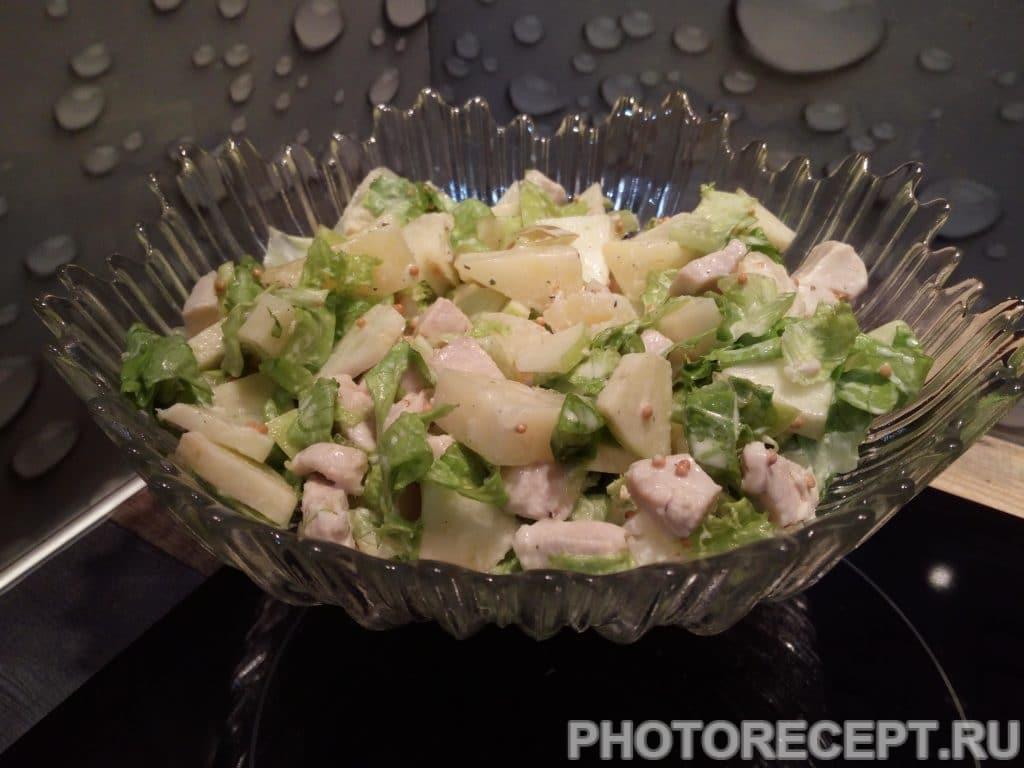 Фото рецепта - Салат с ананасом «Экзотика» - шаг 9