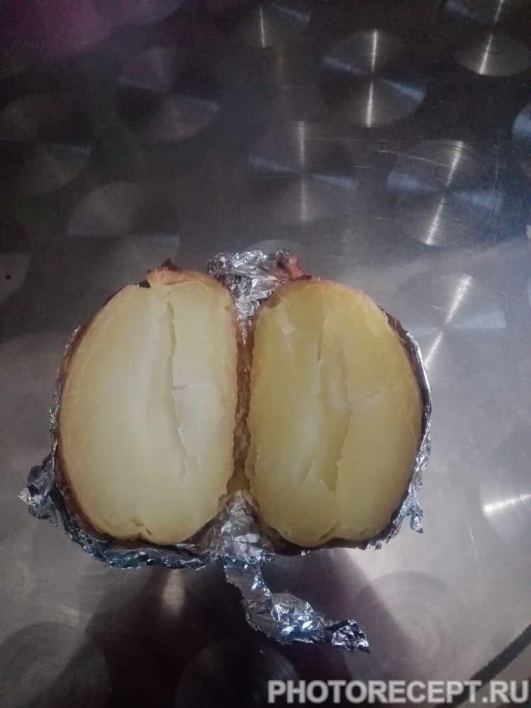 Фото рецепта - Запеченный картофель с лисичками - шаг 6