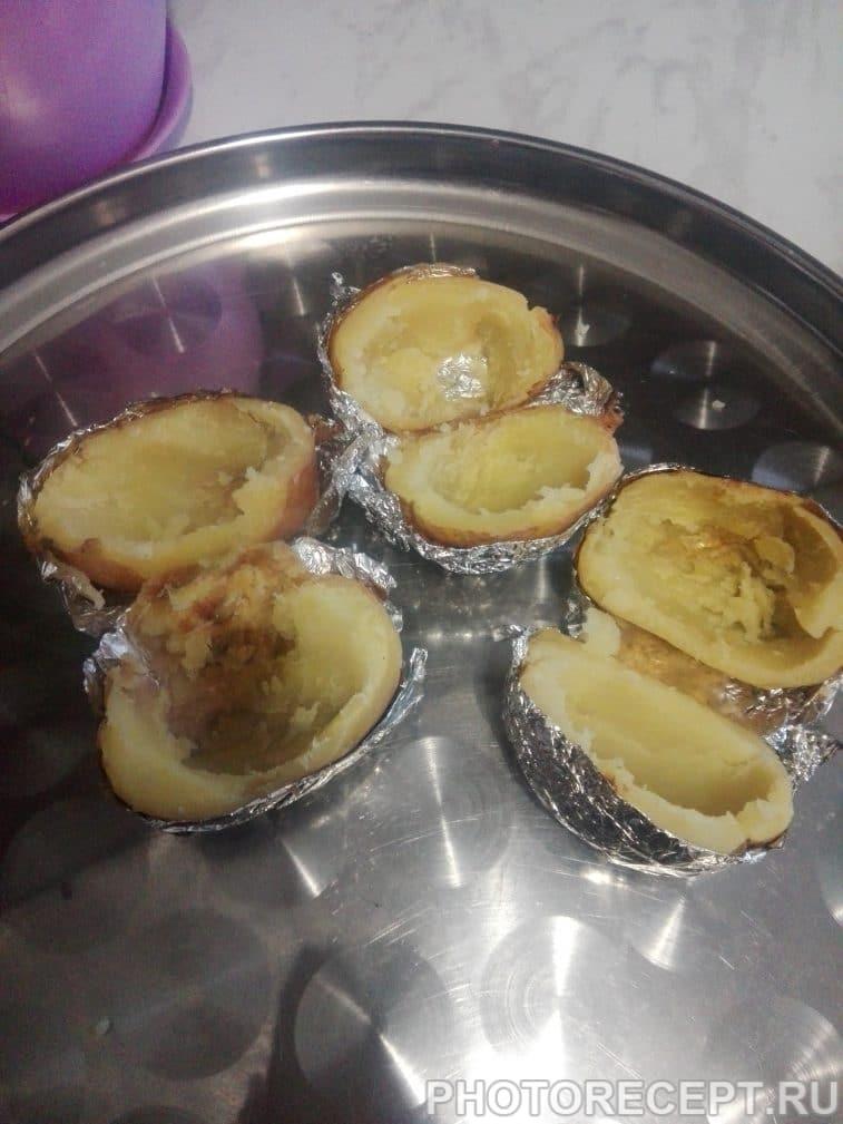 Фото рецепта - Запеченный картофель с лисичками - шаг 7