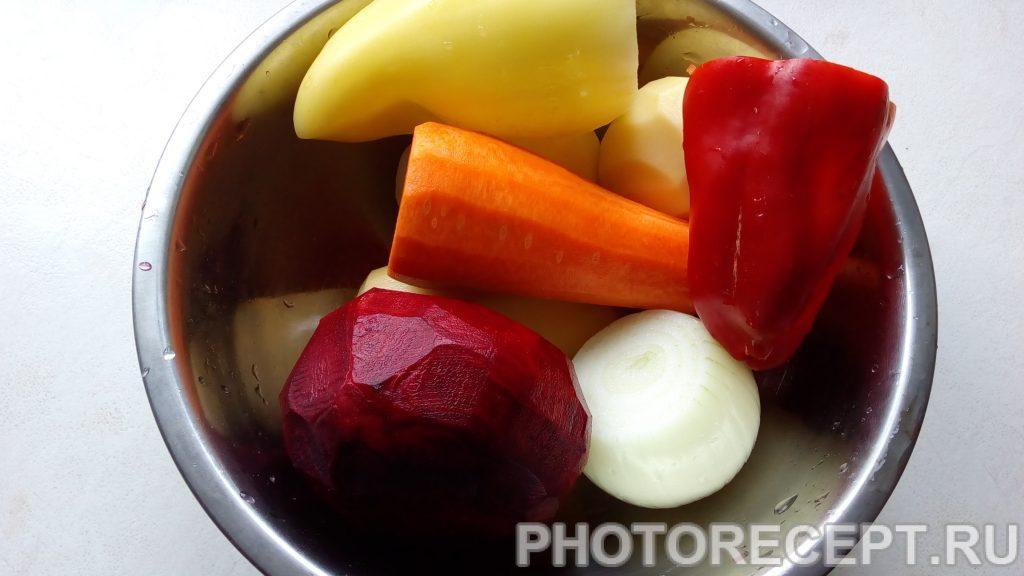 Фото рецепта - Борщ без мяса - шаг 3