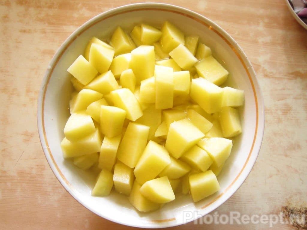 Фото рецепта - Жареная картошка с мясом - шаг 3