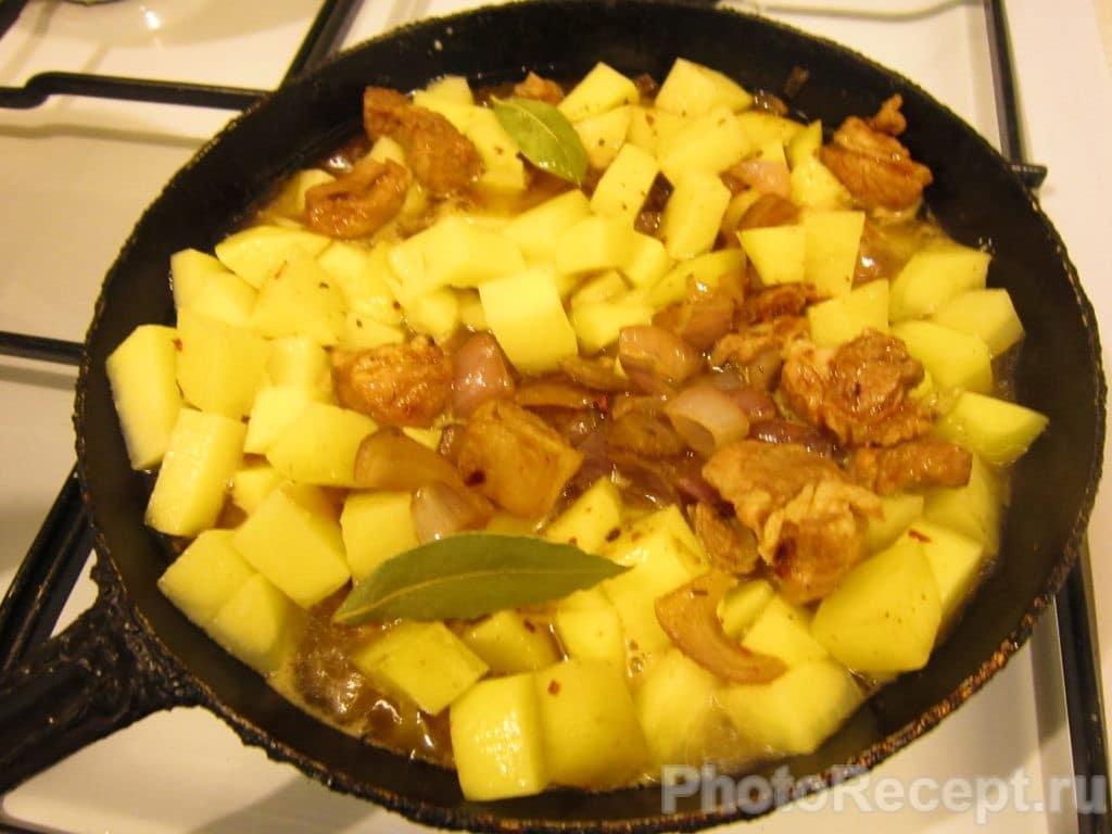 Фото рецепта - Жареная картошка с мясом - шаг 9