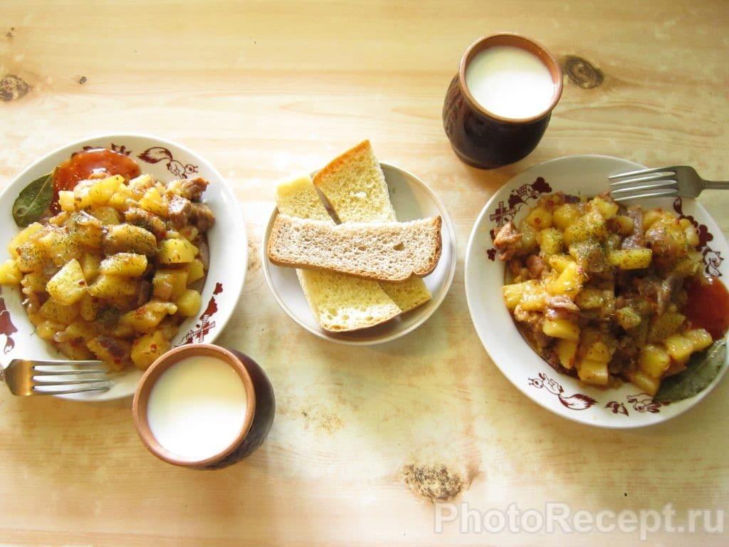 Фото рецепта - Жареная картошка с мясом - шаг 10