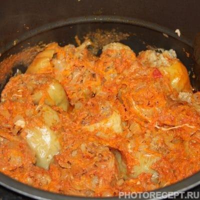 Фото рецепта - Вкусный фаршированный перец в мультиварке - шаг 7