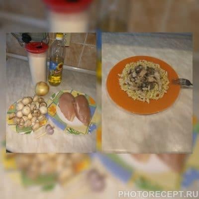 Гуляш из куриной грудки и шампиньонов - рецепт с фото