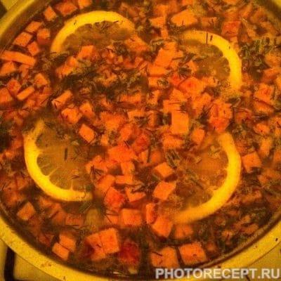 Фото рецепта - Сборная солянка с колбасой и копченой курицей - шаг 13