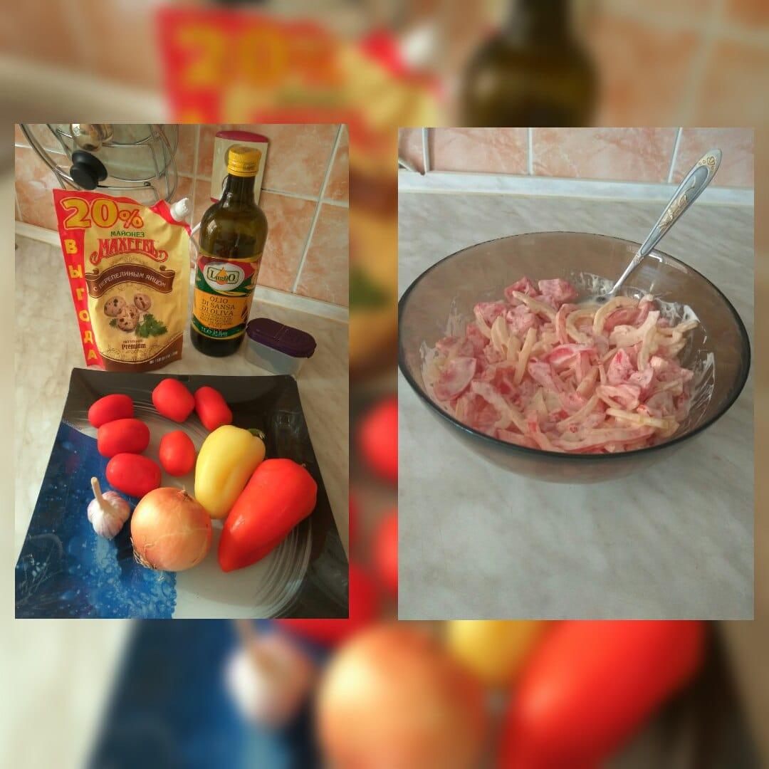 Салат из помидоров с перцем Белозерка