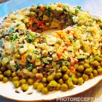 Фото рецепта - Классический салат Оливье с курицей - шаг 10