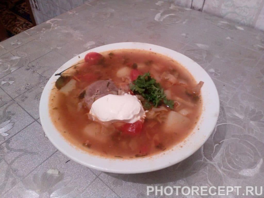 Фото рецепта - Настоящий украинский борщ - шаг 10