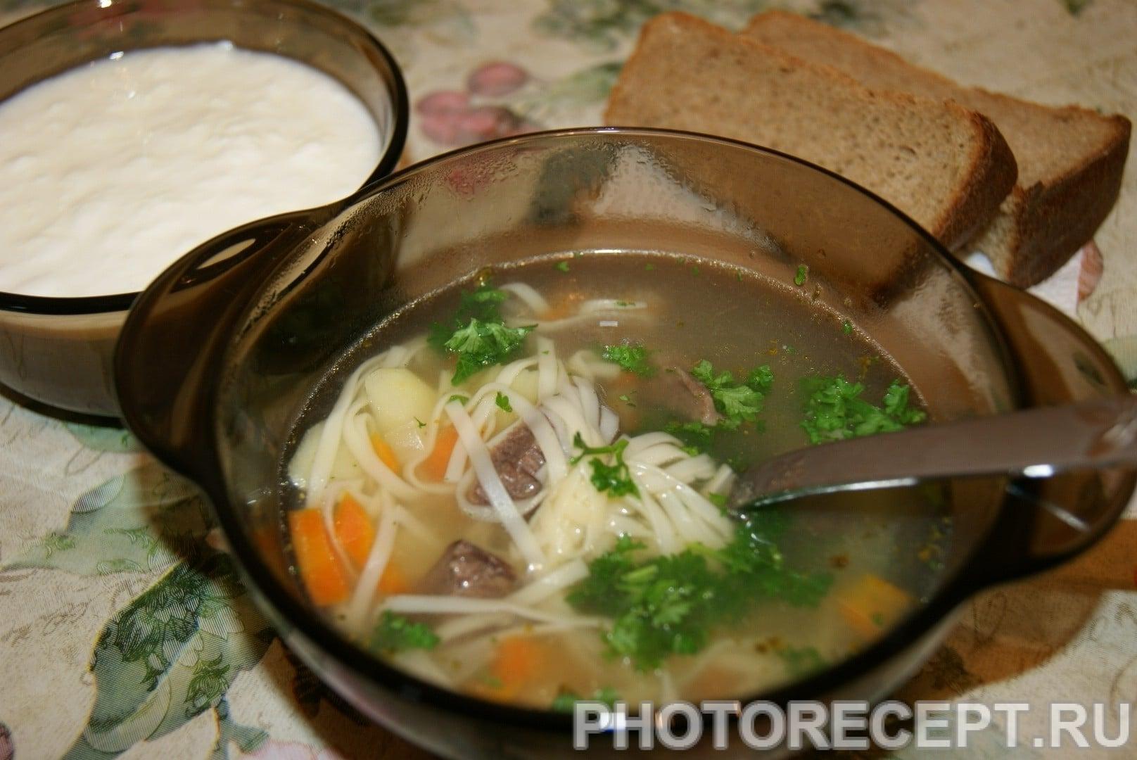 Домашняя лапша суп пошаговый рецепт с фото