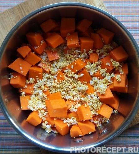 Фото рецепта - Тыквенная каша с медом и изюмом «Золотая осень» - шаг 5