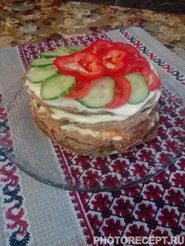 Фото рецепта - Печеночный торт из куриной печени - шаг 8