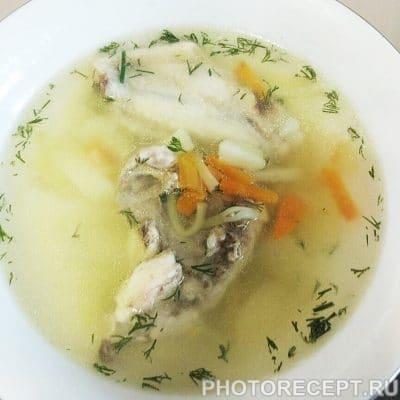 Суп куриный с лапшой - рецепт с фото