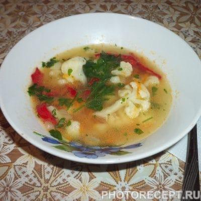 Легкий овощной суп из цветной капусты - рецепт с фото