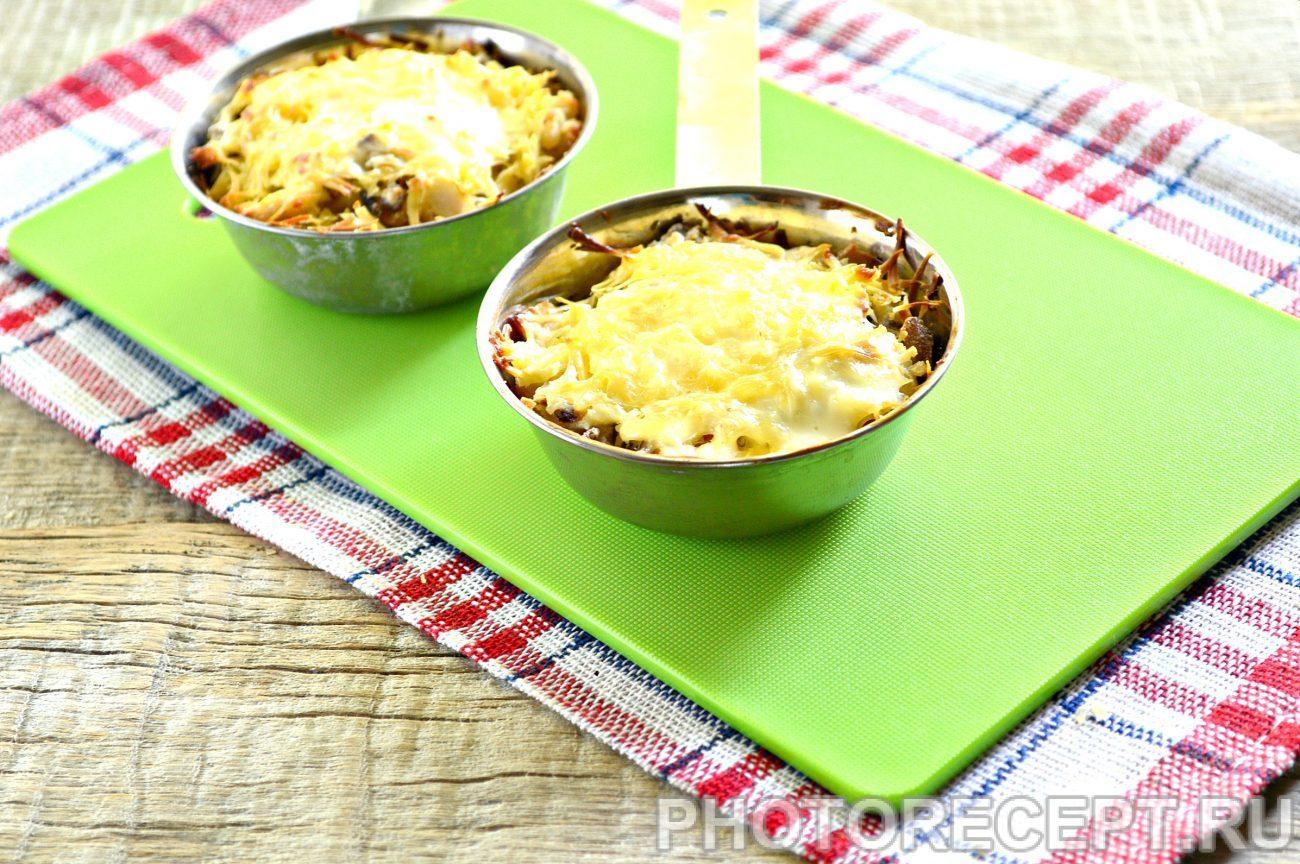 Рецепт жульена с курицей и грибами в духовке