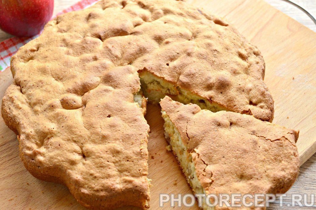 Фото рецепта - Быстрый яблочный пирог - шаг 11