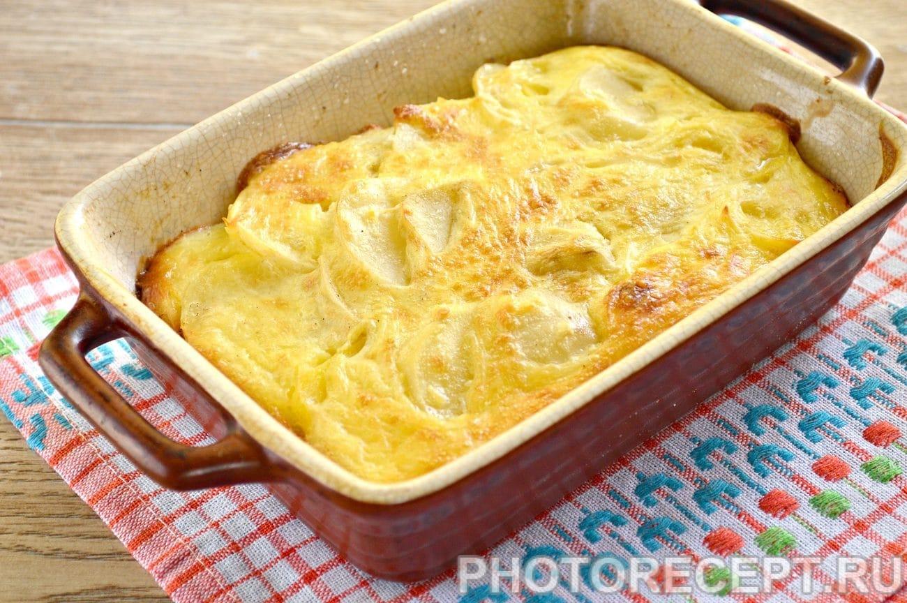 Запеченная картошка в духовке с сыром и курицей пошагово