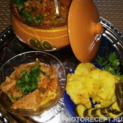 Фото рецепта - Жаркое из свинины с кефиром в горшочках - шаг 9