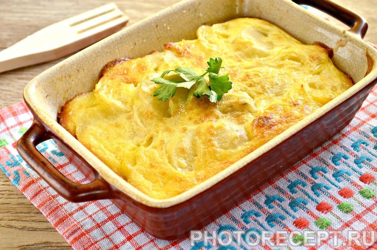 Запеканка картофель фарш сыр рецепт пошагово