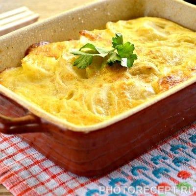 Картофельная запеканка с сыром и майонезом - рецепт с фото