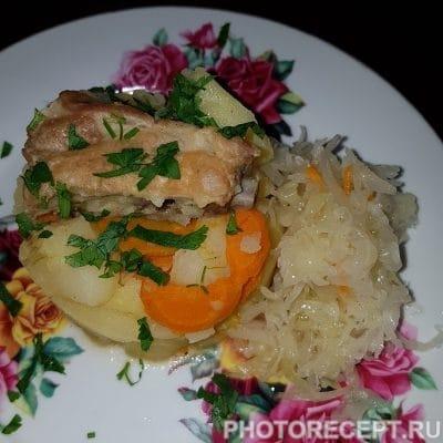 Тушеный картофель со свиными ребрами - рецепт с фото