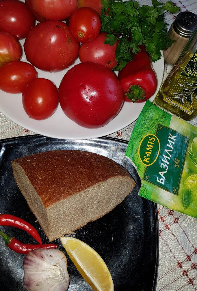 Фото рецепта - Пряный  гаспачо — овощной суп - шаг 1