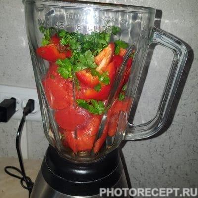 Фото рецепта - Пряный  гаспачо — овощной суп - шаг 4