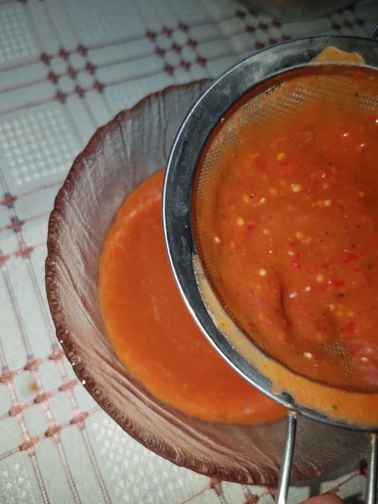 Фото рецепта - Пряный  гаспачо — овощной суп - шаг 5