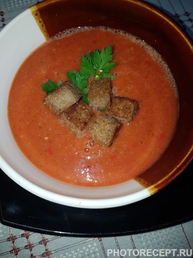 Фото рецепта - Пряный  гаспачо — овощной суп - шаг 7