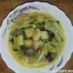 Вермишель с грибами суп рецепт пошагово в