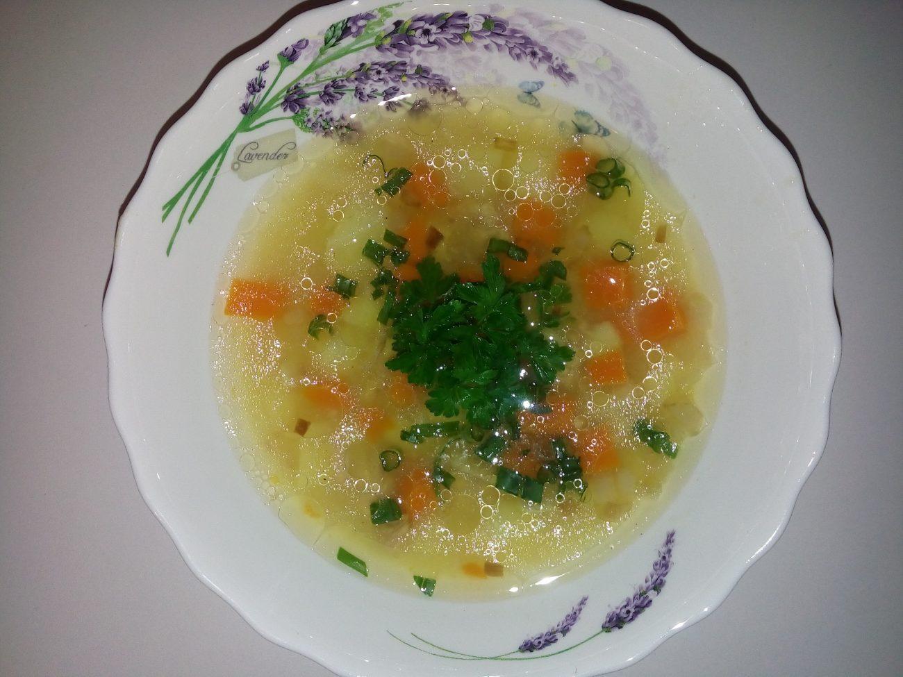 суп с консервированным тунцом рецепт с фото