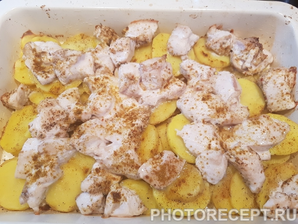 Фото рецепта - Курица с картошкой и сыром - шаг 5
