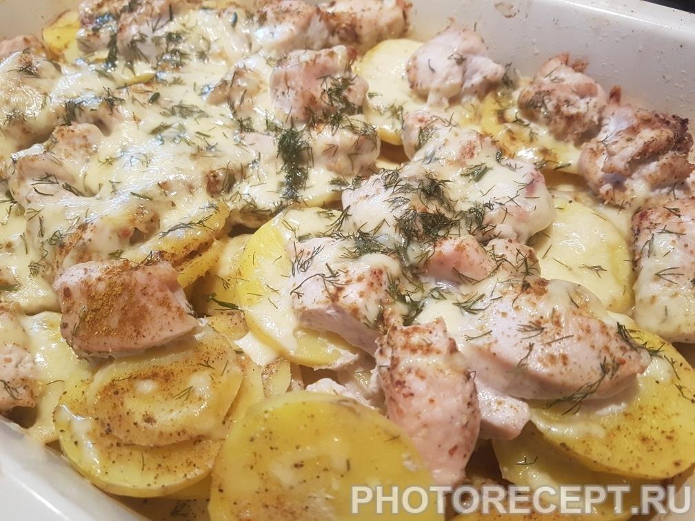 Курица с картошкой и сыром