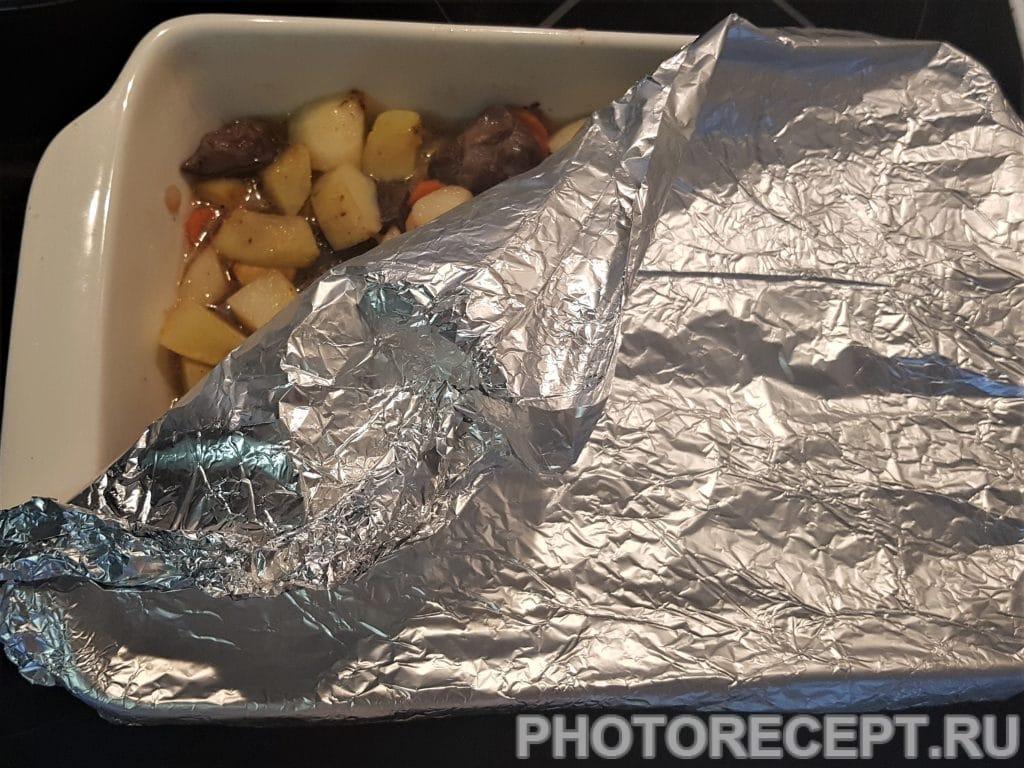Фото рецепта - Домашнее жаркое с куриными желудками - шаг 5