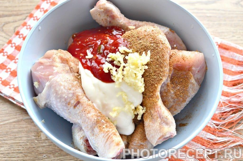 Фото рецепта - Куриные голени в духовке - шаг 3
