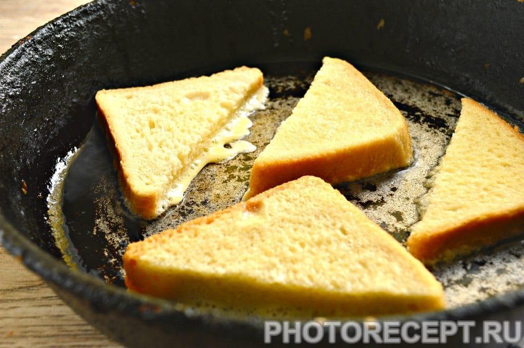 Фото рецепта - Сладкие гренки на сковороде - шаг 5