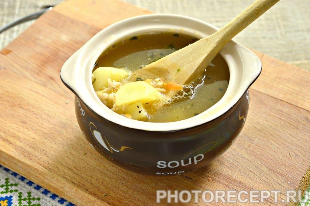Фото рецепта - Легкий куриный суп с овсяными хлопьями - шаг 5