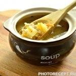 Легкий куриный суп с овсяными хлопьями