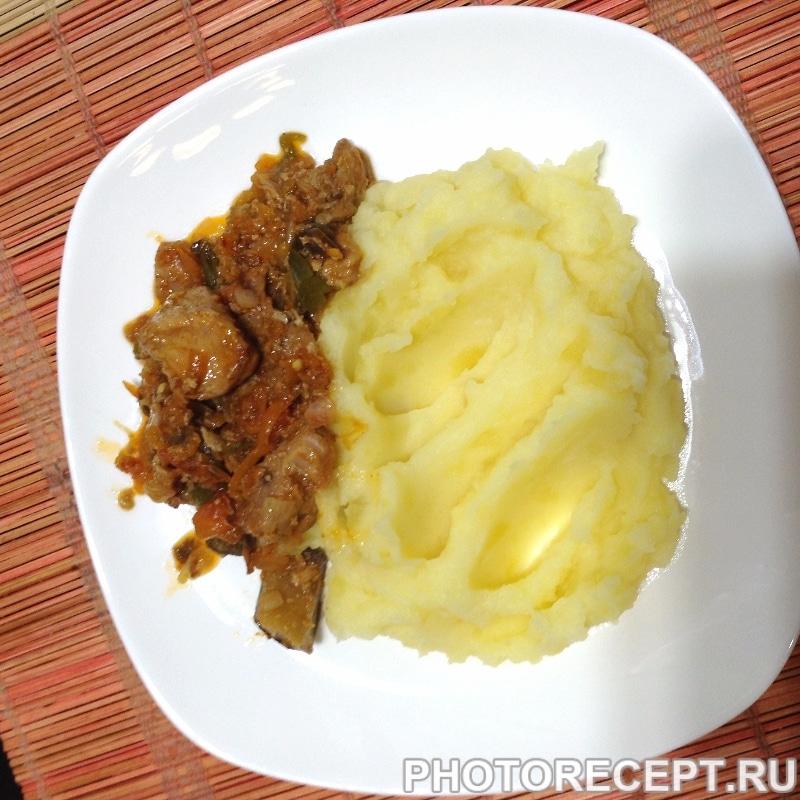 Вкусный  и простой рецепт  мяса с овощами.