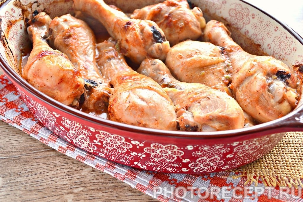 Фото рецепта - Куриные голени в духовке - шаг 7