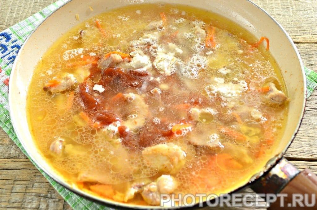 Фото рецепта - Мясо с овощами на сковороде - шаг 8