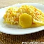 Картошка с капустой на сковороде