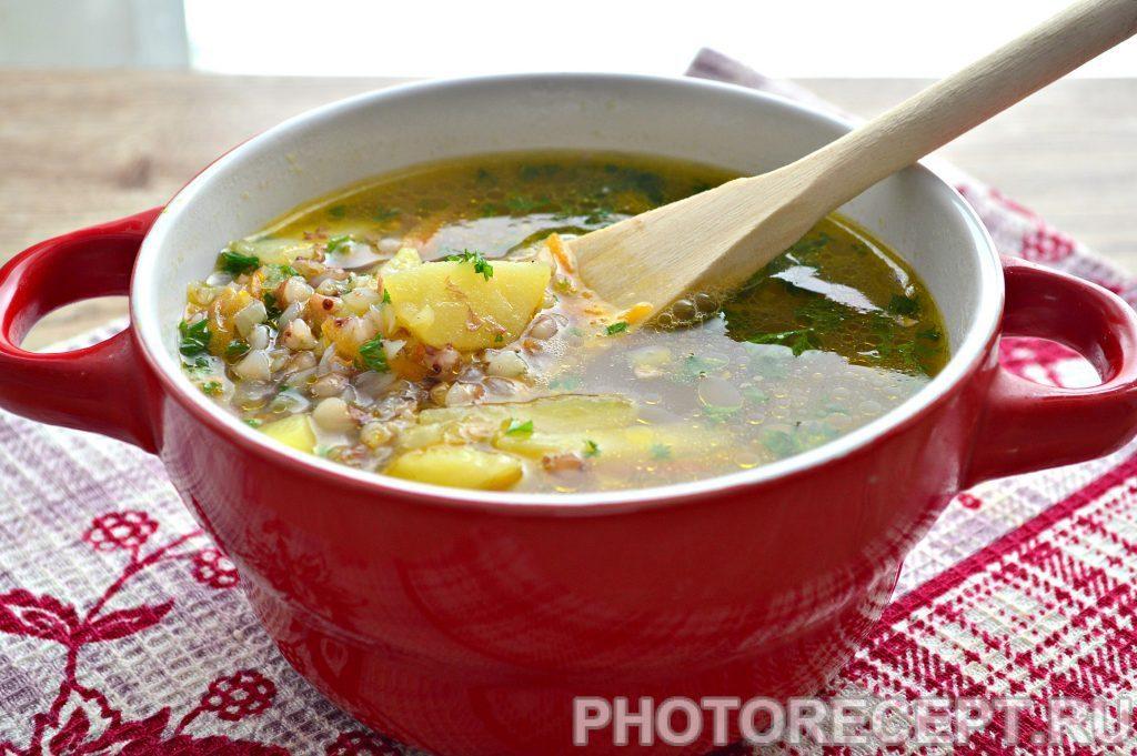 Фото рецепта - Гречневый суп с курицей - шаг 8