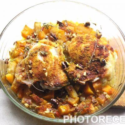 Курица с индийским тыквенным чатни - рецепт с фото