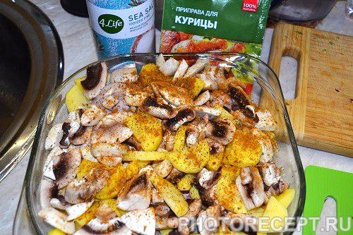 Фото рецепта - Курица с грибами - шаг 4