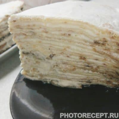 Блинный торт со сливочным кремом - рецепт с фото