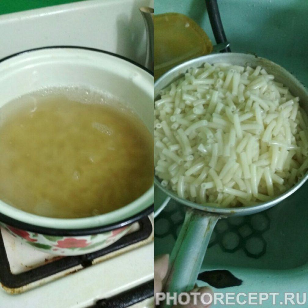 Фото рецепта - Макароны по-флотски с куриным фаршем - шаг 4