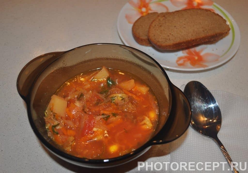 Фото рецепта - Украинский борщ в мультиварке - шаг 7