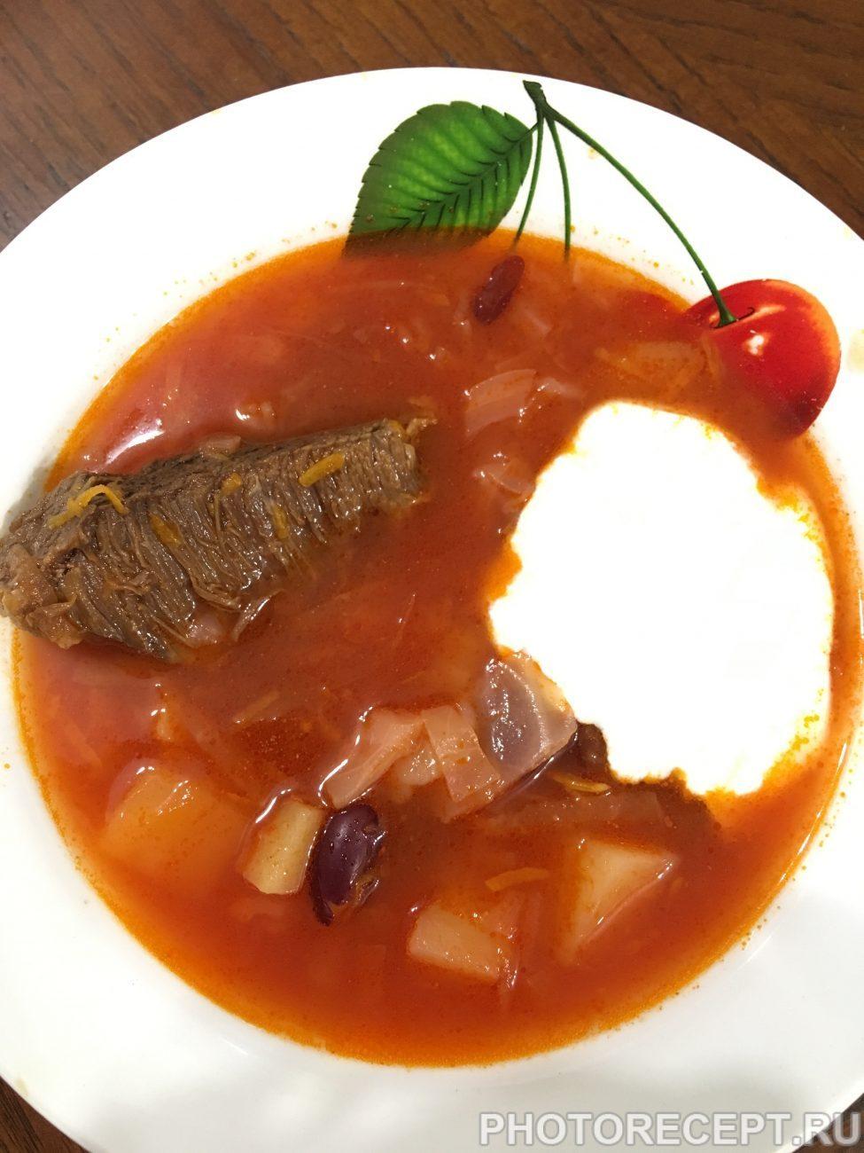 Борщ с фасолью – сытный суп с мужским характером